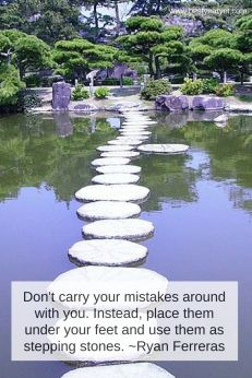 dont carry your mistakes around
